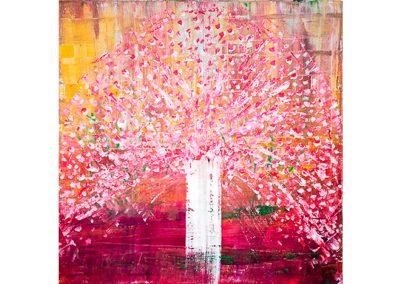 Blüten-Zeit (Acryl-80x80cm)