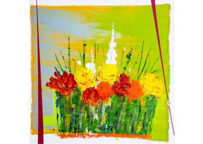 Blumen-Lumen (Acryl 80x80cm)